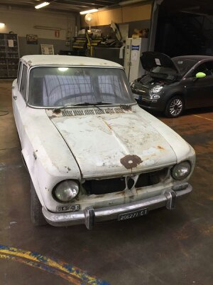 Alfa Romeo 1300 TI 1967 originale da restaurare